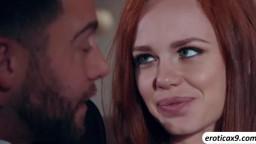 Ella Hughes blows a huge aroused dick