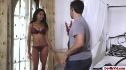 Ebony model fucked by camera man