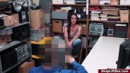 Milf accomplice sucks officers cock