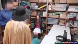 Officer destroys Samantha and Grandma pussy