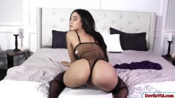 Petite latina rammed hard by black dick