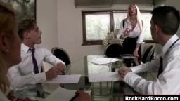 Busty teacher gets double penetrated