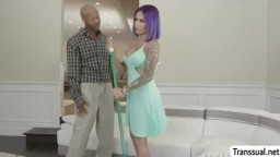 TS Foxxy enjoys riding and grinding a BBC