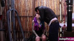 Sexy ink babe sucks n fucked by big cock