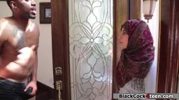 Pretty arab babe fucked by black dick