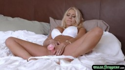 Sexy stepmom toyed and fucked by stepson
