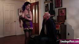 Busty tattooed babe rammed by big dick