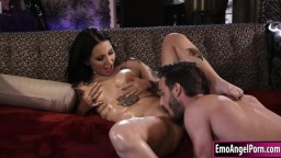 Petite ink queen licked and pussy rammed