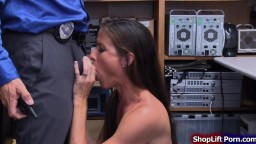 Brunette milf fucked by store security