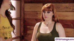 Penny Pax gets licked by her co worker