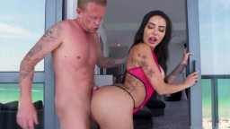 Lela Star tits and ass on South Beach