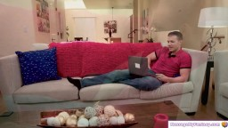 Masseuse gives bodytobody massage to guy