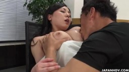 Miyuki Ojima is fucked hard by the man she interviews
