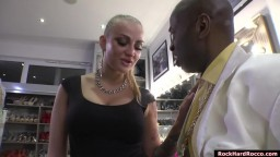 Busty blonde licked and fucked by judge