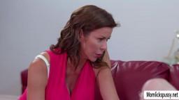 Laney Grey seduce Stepmom Alexis Fawx into pussy licking