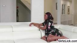 Slutty babe Chanell Heart taste Gianna Diors teen pussy