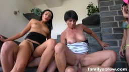 FamilyScrew - Two Sisters In A Hardcore Family Fuck