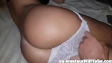 My aunty love wake up with a big dick in her ass