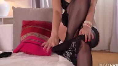 Busty Beauty Kira Queen gets that Big Dick Balls Deep